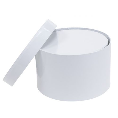 Blumenbox Flowerbox Weiß rund Ø14cm - Ø16cm 2St