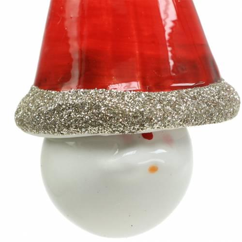 Weihnachtsdeko Dekohänger Wichtel Glocke 10cm 4St