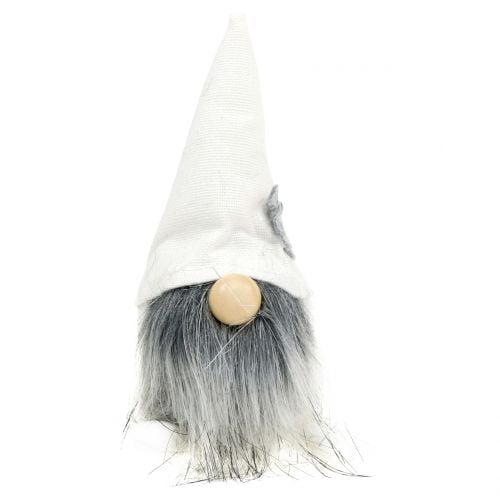 Weihnachtswichtel mit Bart Weiß, Grau 12cm 4St