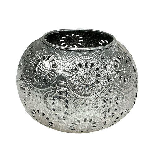 Windlicht Silber orientalisch Ø12cm H9cm preiswert online kaufen