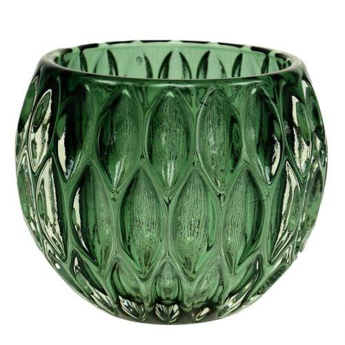 Windlicht aus Glas Dunkelgrün Ø11,5cm H9cm 1St