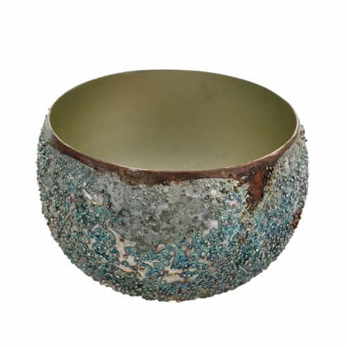 Windlicht Metall Bunt Ø10cm H6,5cm