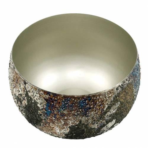 Dekoschale bunt Metall Ø17cm H11,5cm