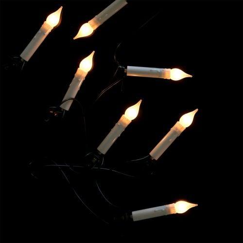 Windstoß-Lichterkette für innen 16er 6m Warmweiß