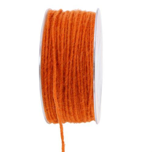 Wollschnur Orange 3mm 100m