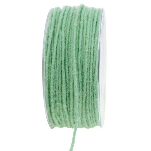 Wollschnur Mintgrün 3mm 100m