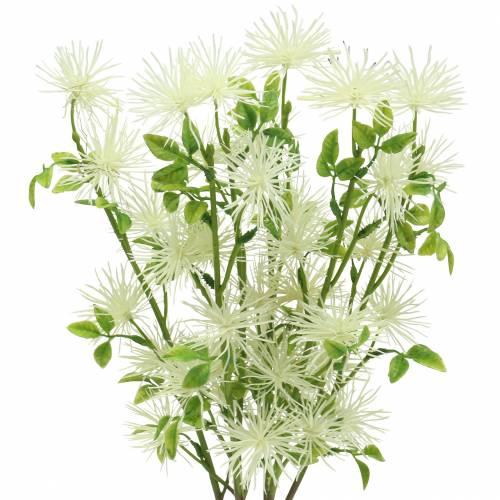 Xanthium Seidenblume Weiß 53cm 6St
