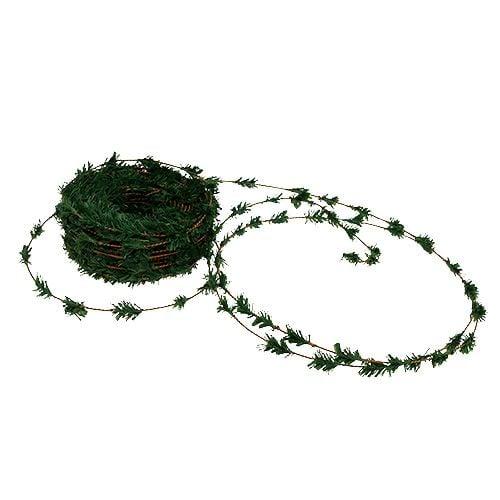 Zederngirlande Mini Grün mit Draht 27m