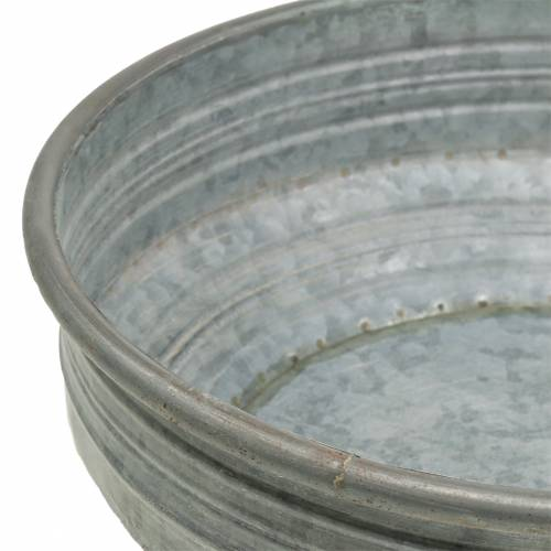 Zinkschale Ø31,5cm H10cm