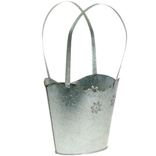 Pflanzgefäß Tasche aus Zink H36cm