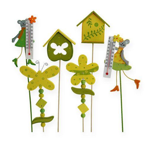 Blumenstecker mit motiv 30cm 12 st preiswert online kaufen for Garten dekostecker