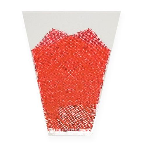 Blumentüte Jute Rot L40cm B30cm - 12cm 50St