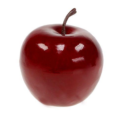 Apfel Dekoapfel Orange lackiert 3 Stück 6,5 cm apple shiny Orange triple set