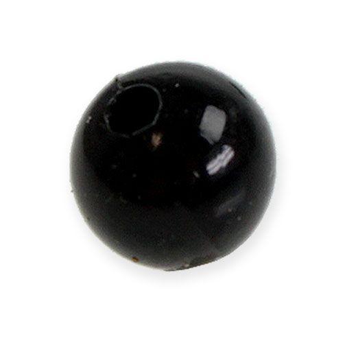 Deko-Perlen Ø10mm Schwarz 115St