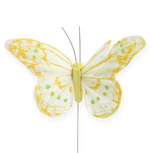 Deko-Schmetterlinge am Draht 10cm 12St