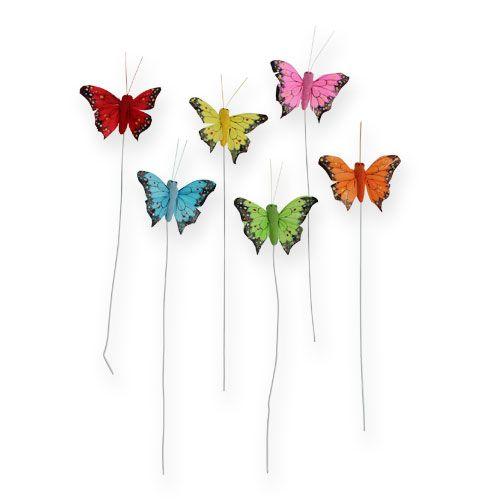 Deko-Schmetterling am Draht Farbig sort. 5cm 24St preiswert online ...