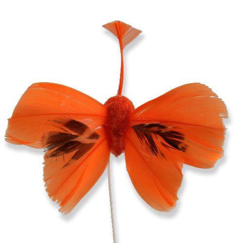 deko schmetterlinge am draht orange 9cm 36st preiswert. Black Bedroom Furniture Sets. Home Design Ideas
