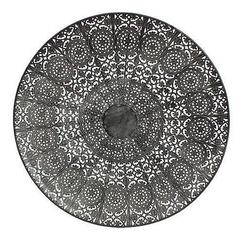 deko teller orientalisch grau 35cm preiswert online kaufen. Black Bedroom Furniture Sets. Home Design Ideas