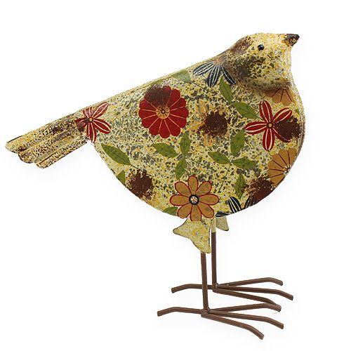 Deko vogel bunt 27cm preiswert online kaufen Deko aus metall