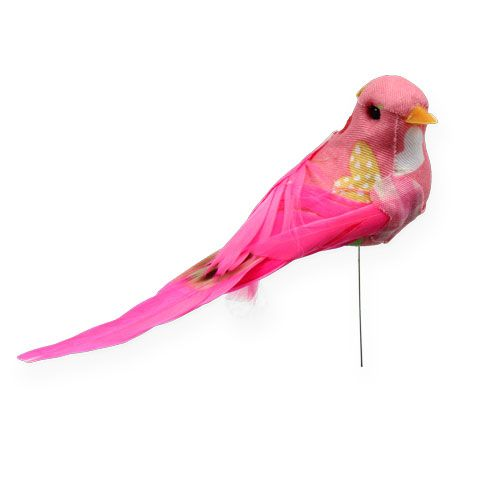 deko vogel am draht pink 13cm 2st preiswert online kaufen. Black Bedroom Furniture Sets. Home Design Ideas