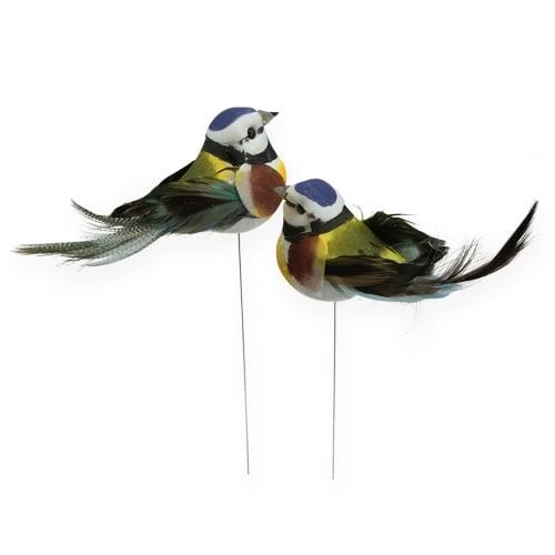 deko vogel am draht 9 5cm 12st preiswert online kaufen. Black Bedroom Furniture Sets. Home Design Ideas
