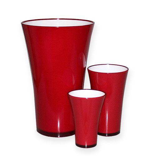 """Vase """"Fizzy"""" Rot, 1St"""
