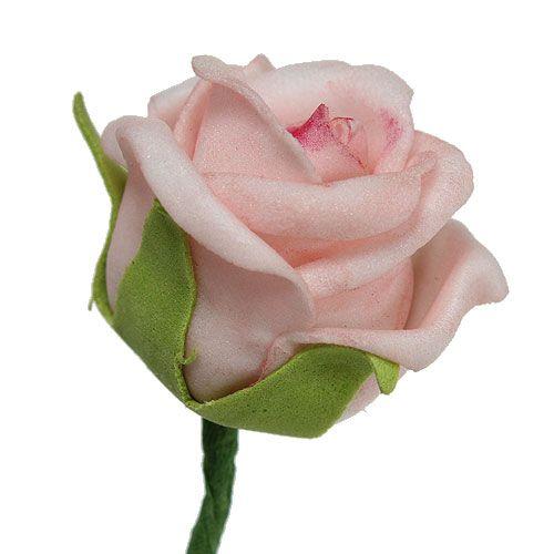 Foam Rose Ø3,5cm Lachsrosa 30St
