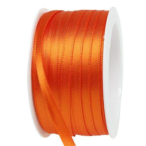Geschenk- und Dekorationsband 6mm x 50m Orange