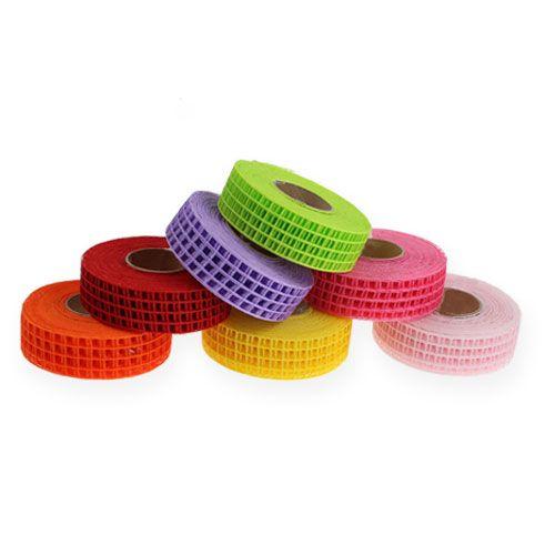 Gitterband 3cm x 10m bunt 7St