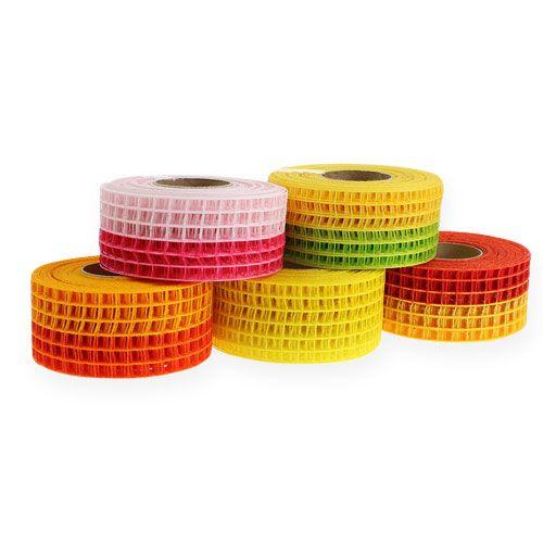 Gitterband 4,5cm x 10m zweifarbig 5 Rollen