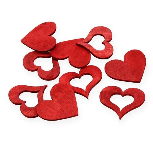 Streudeko holzherzen rot 4cm 72st preiswert online kaufen for Holzherzen deko