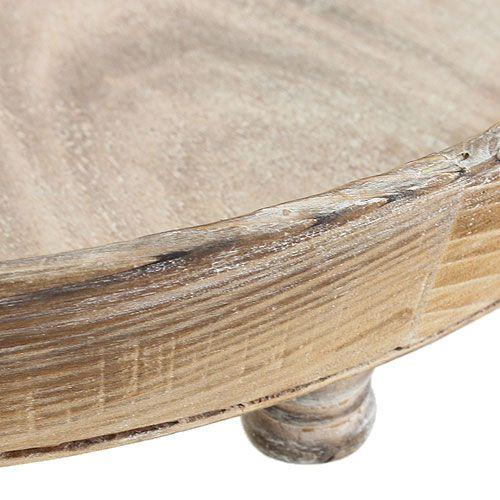 holztablett rund braun 50cm preiswert online kaufen. Black Bedroom Furniture Sets. Home Design Ideas
