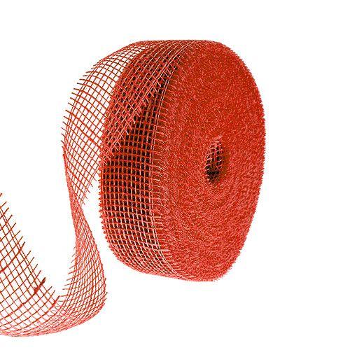 Juteband Rot 5cm 40m