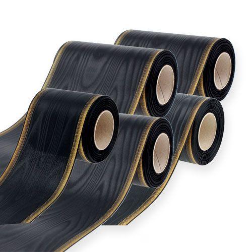 Kranzband Moiré schwarz