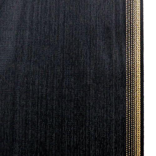 Kranzband Moiré 125mm, Schwarz