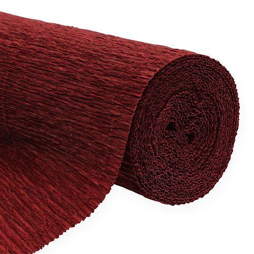 floristen krepppapier bordeaux 50x250cm preiswert online. Black Bedroom Furniture Sets. Home Design Ideas