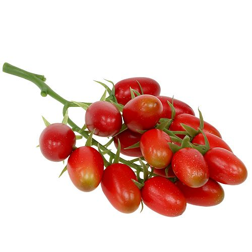 Künstliche Rispentomaten Rot am Zweig 22cm