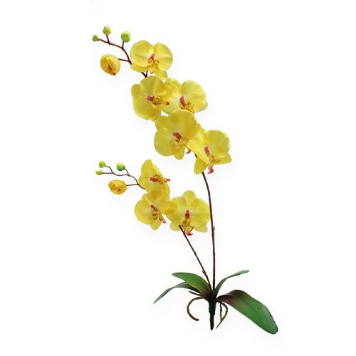 k nstliche orchidee gelb 68cm preiswert online kaufen. Black Bedroom Furniture Sets. Home Design Ideas