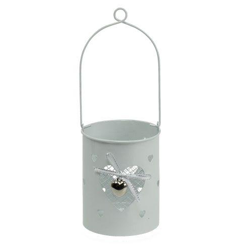 windlicht wei mit herz und henkel h10cm preiswert online. Black Bedroom Furniture Sets. Home Design Ideas
