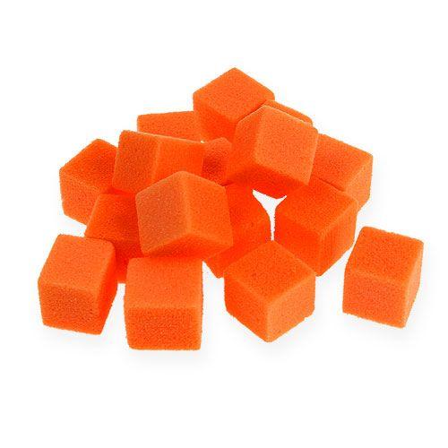 Nasssteckschaum Mini-Würfel Orange 300St