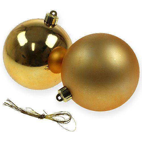 Weihnachtskugel Gold 10cm 4St