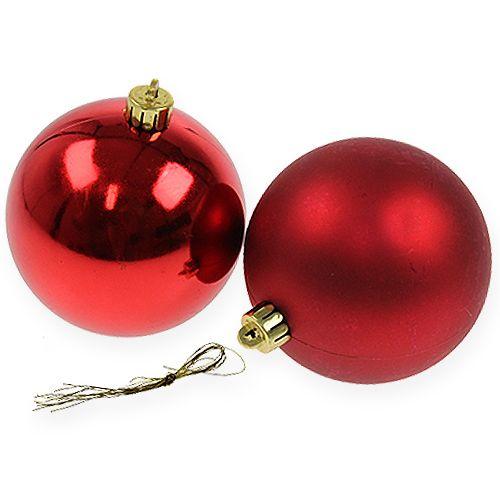 weihnachtskugel rot 10cm 4st preiswert online kaufen. Black Bedroom Furniture Sets. Home Design Ideas