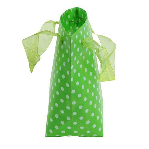 Tragetasche Grün, Weiß 31cm 5St
