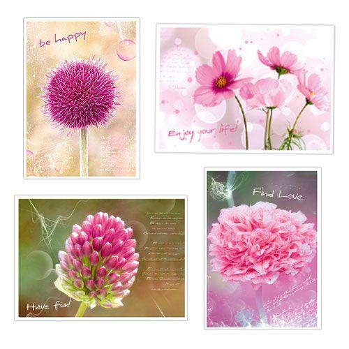 Postkarten  Blumenmotive  20 Stück