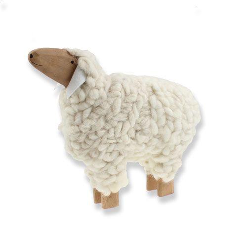 Deko Schaf Aus Holz Und Wolle