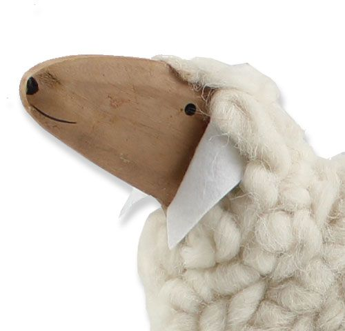 Deko Schaf Aus Holz Und Wolle ~   deko schaf aus holz und wolle ca 50cm außergewöhnliches deko schaf