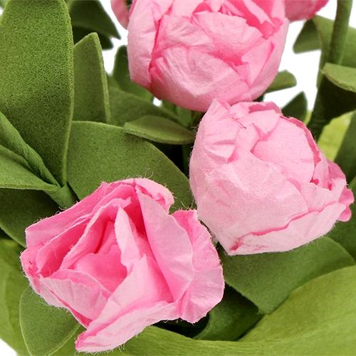 Tischdeko minirosen in rosa 16cm preiswert online kaufen for Tischdeko in rosa