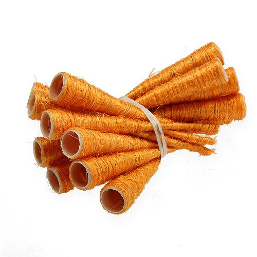 Sisal-Spitzvase Orange Ø1,5cm L15cm 20St