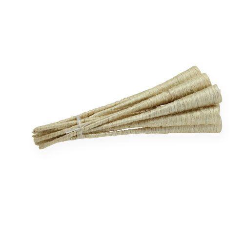 Sisal-Spitzvase gebleicht Ø2,5cm L30cm 12St