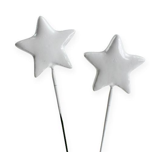 Stern am Draht 4cm Weiß 60St preiswert online kaufen